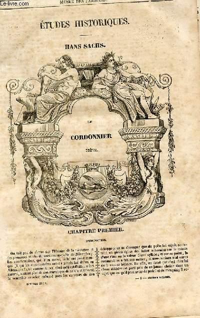 Le musée des familles - lecture du soir - 1ère série - livraisons n°01,02 et 03 - Etudes historiques - hans Sachs - Le cordonnier poète par Henry Blaze.