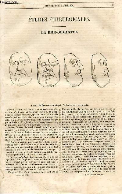 Le musée des familles - lecture du soir - 1ère série - livraison n°04 - Etudes chirurgicales - La rhinoplastie par Laborie.