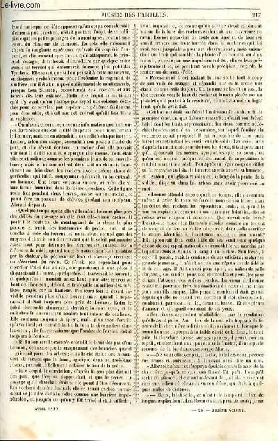 Le musée des familles - lecture du soir - 1ère série - livraison n°28 - La serrure de passage,suite et fin (voyages) par Bouelle.