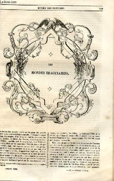 Le musée des familles - lecture du soir - 1ère série - livraisons n°37 et 38 - Les mondes imaginaires par Aimé MArtin.