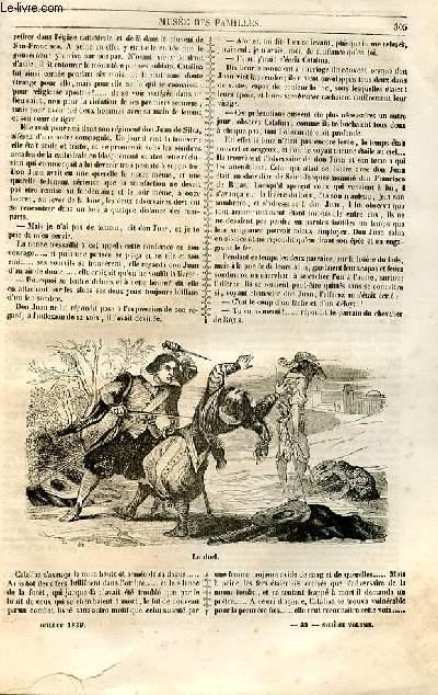 Le musée des familles - lecture du soir - 1ère série - livraisons n°39 et 40 (notée 39) - Dona Catalina de Erauso,suite et fin par la duchesse d'Abrantès.