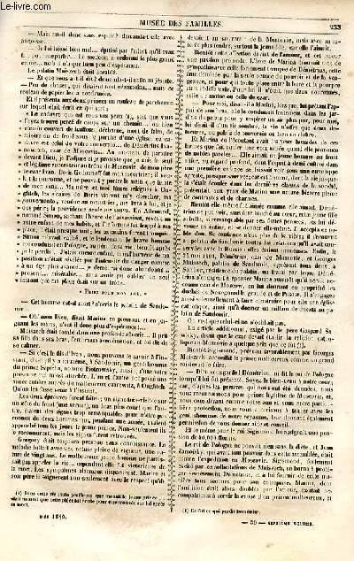 Le musée des familles - lecture du soir - 1ère série - livraison n°30 et 31 - Etudes biographiques - une reine (Marina ou marie Mniszech) par  la duchesse d'Abrantès,suite et fin.