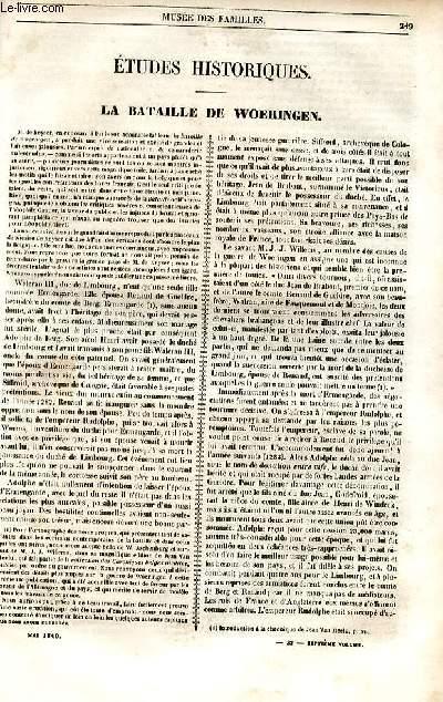 Le musée des familles - lecture du soir - 1ère série - livraison n°32 - La bataille de Woeringen par Auguste Voisin.