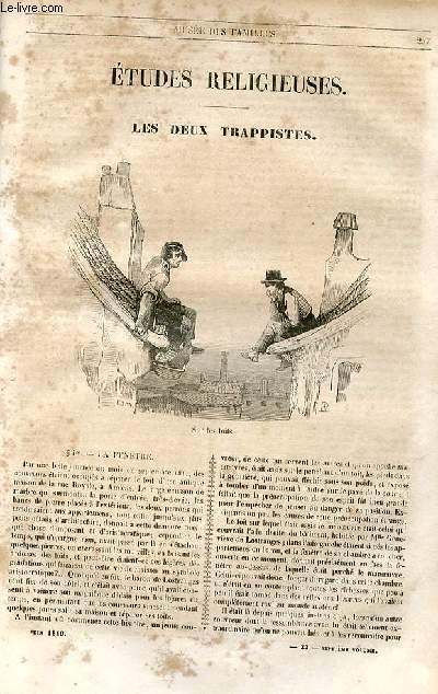 Le musée des familles - lecture du soir - 1ère série - livraisons n°33, 34 et 35 - Etudes religieuses - Les deux trappistes par Edouard Plouvier.