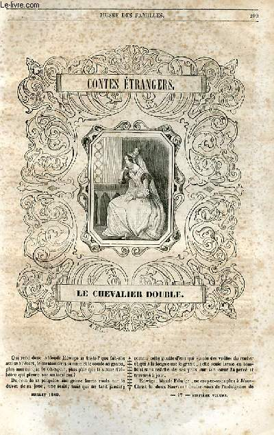 Le musée des familles - lecture du soir - 1ère série - livraisons n°37 et 38 - le chevalier double (conte étranger) par Théophile gautier .