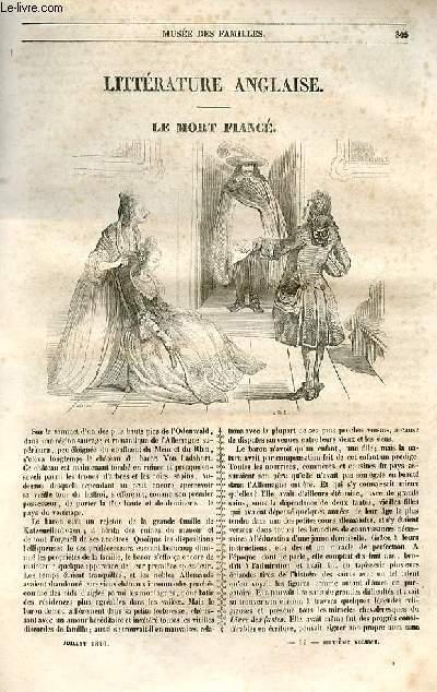 Le musée des familles - lecture du soir - 1ère série - livraisons n°39 et 40 - Littérature anglaise - Le mort fiancé par Washington Irving, traduit de l'anglais par Feydeau.