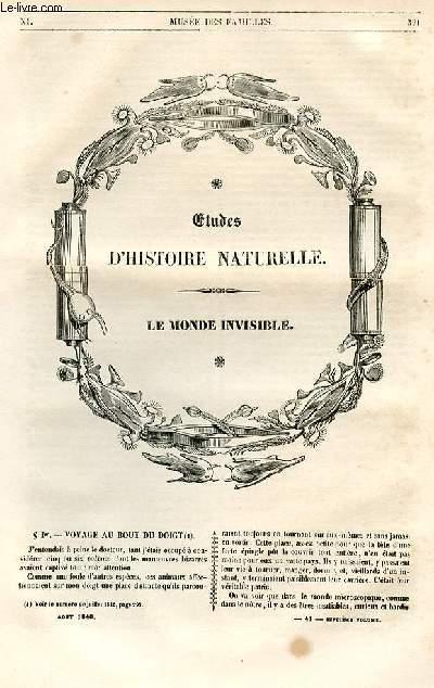 Le musée des familles - lecture du soir - 1ère série - livraison n°41 - Etudes d'histoire naturelle - Le monde invisible par Auguste Bertsch.