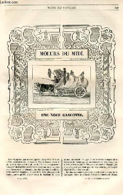 Le musée des familles - lecture du soir - 1ère série - livraison n°42 et 43 - Moeurs du midi - Une noce gasconne  par A. Granier de Cassagnac.