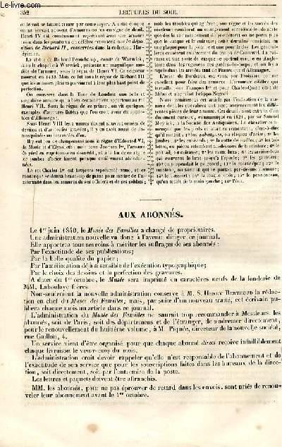 Le musée des familles - lecture du soir - 1ère série - livraison n°43 et 44 - Le théâtre de la Scala, suite et fin.