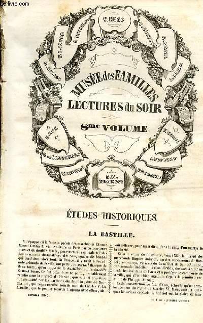 Le musée des familles - lecture du soir - 1ère série - livraison n°01 et 02- Etudes historiques - La Bastille par P. Jacob.