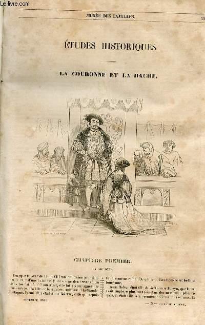 Le musée des familles - lecture du soir - 1ère série - livraison n°05 - La couronne et la hache par la duchesse d'Abrabantès.