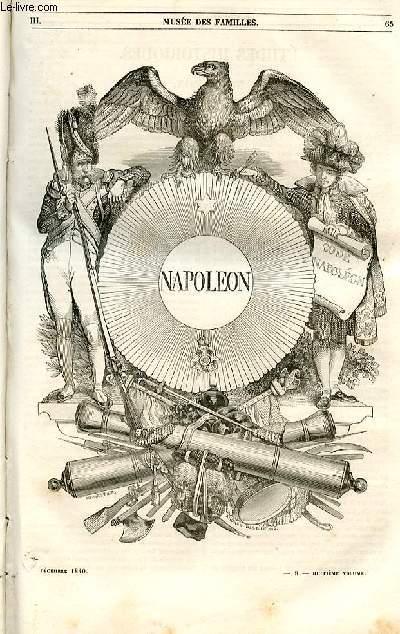 Le musée des familles - lecture du soir - 1ère série - livraisons n°09 et n°10 - Napoléon par Victor Herbin.