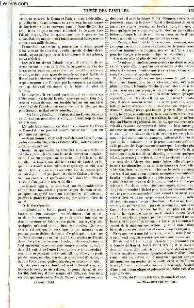 Le musée des familles - lecture du soir - 1ère série - livraison n°20 - Fantaisies littéraires - Le prix du sang  par Edouard Plouvier,suite et fin.