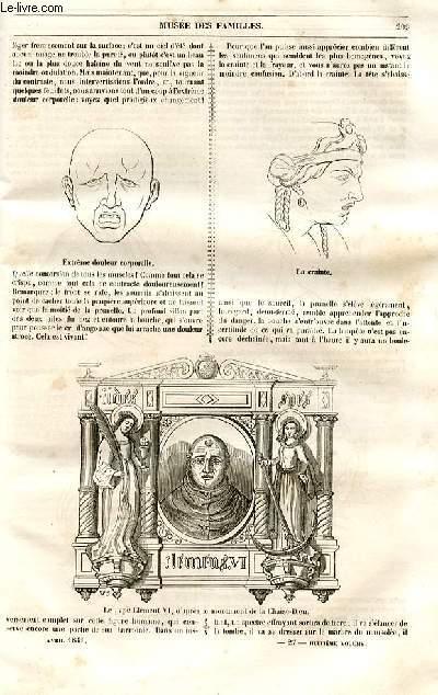 Le musée des familles - lecture du soir - 1ère série - livraison n°27 et n°28 - Etudes artistiques - Têtes d'expression de Lebrun,suite.