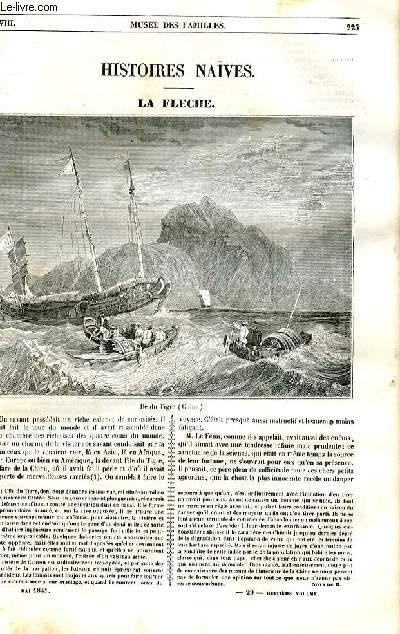 Le musée des familles - lecture du soir - 1ère série - livraison n°29 - Histoires naïves - La flèche  par Marceline Valmore.