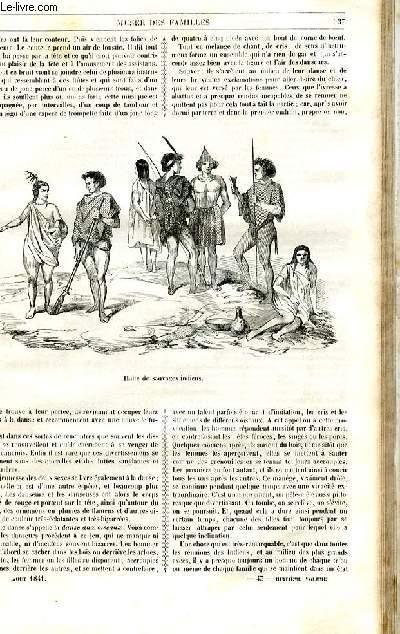 Le musée des familles - lecture du soir - 1ère série - livraison n°43 et 44 - Etudes de voyages - les indiens du Sénégal,  par Benoit, suite et fin.