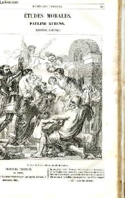 Le musée des familles - lecture du soir - 1ère série - livraison n°45 - Etudes morales - Pauline Rubens, seconde partie par Berthoud.