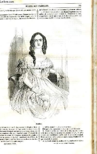 Le musée des familles - lecture du soir - 1ère série - livraison n°46 , 47 et 48- Pauline Rubens, suite et fin de la seconde partie.