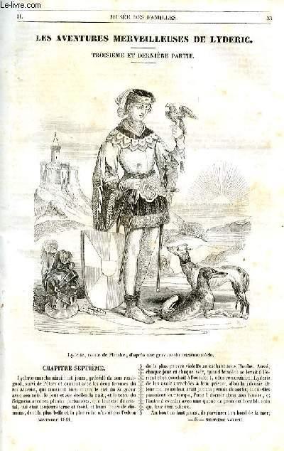 Le musée des familles - lecture du soir - 1ère série - livraison n°05 et 06 - Les aventures merveilleuses de Lydéric, troisième et dernière partie par Alexandre Dumas.