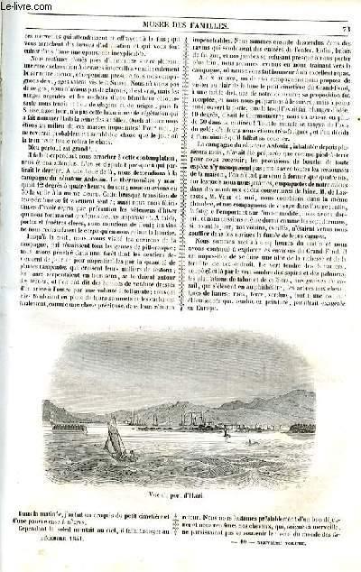 Le musée des familles - lecture du soir - 1ère série - livraison n°10 et 11 - Etudes de voyage - le grand fond par Radiguet,suite et fin.