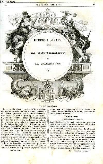Le musée des familles - lecture du soir - 1ère série - livraison n°13 - Etudes morales - Le gouverneur de la Samaritaine par Emile Deschamps.