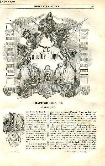 Le musée des familles - lecture du soir - 1ère série - livraison n°25 et 26 -  La petite colombelle, roman par Berthoud, à suivre.