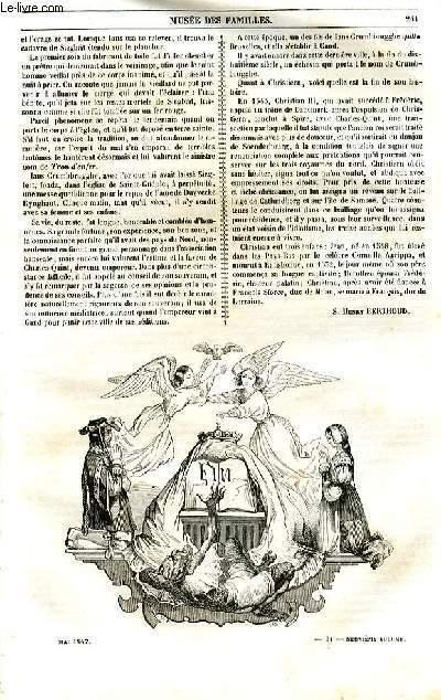 Le musée des familles - lecture du soir - 1ère série - livraison n°31 et 32 - Suite et fin de la petite colombe, seconde partie par Berthoud.