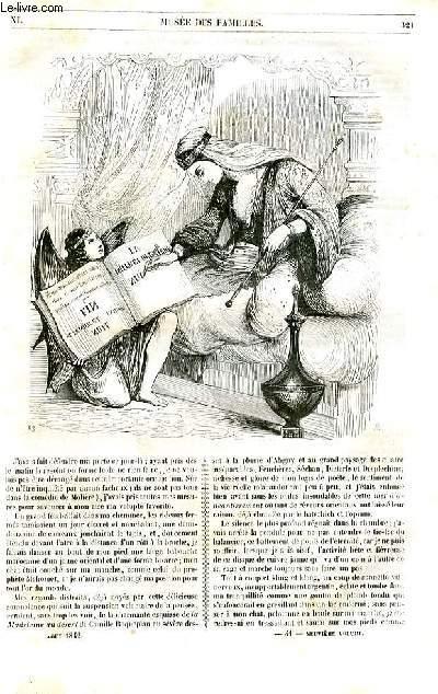 Le musée des familles - lecture du soir - 1ère série - livraison n°41 et 42 - La mille et deuxième nuit par Théophile Gautier.