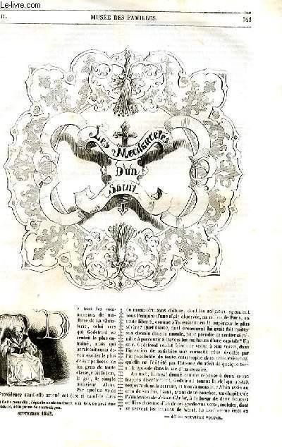 Le musée des familles - lecture du soir - 1ère série - livraison n°45 - Les méchancetés d'un saint par  par De balzac.