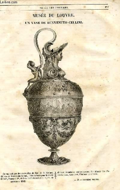 Le musée des familles - lecture du soir - 1ère série - livraison n°48 - Musée du Louvre - Un vase de Benvenuto Cellini.