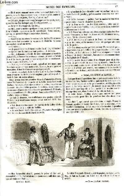 Le musée des familles - lecture du soir - livraison n°03 et 04 - Un acte de désespoir par Méry,suite et fin..
