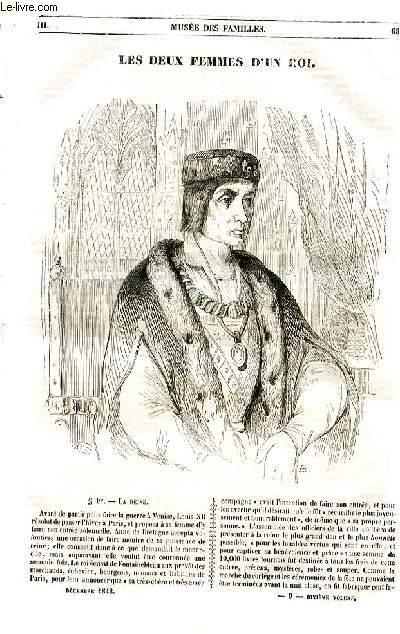 Le musée des familles - lecture du soir - livraison n°09 et 10 - Les deux femmes d'un roi par Paul Lacroix.