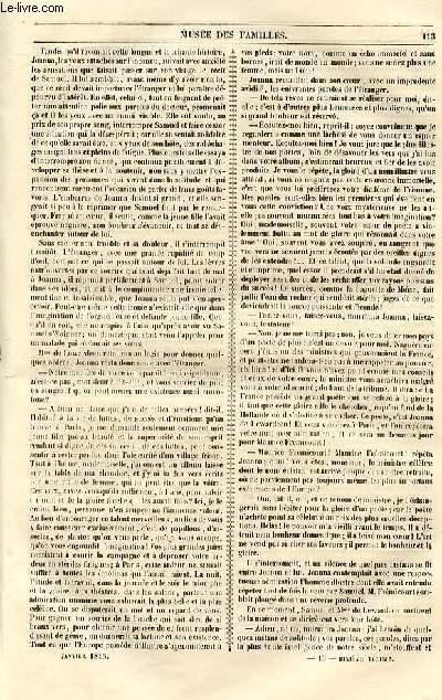 Le musée des familles - lecture du soir - livraison n°15 et 16  - Joanna de Lewardeen, première partie - la frisonne,suite et fin.