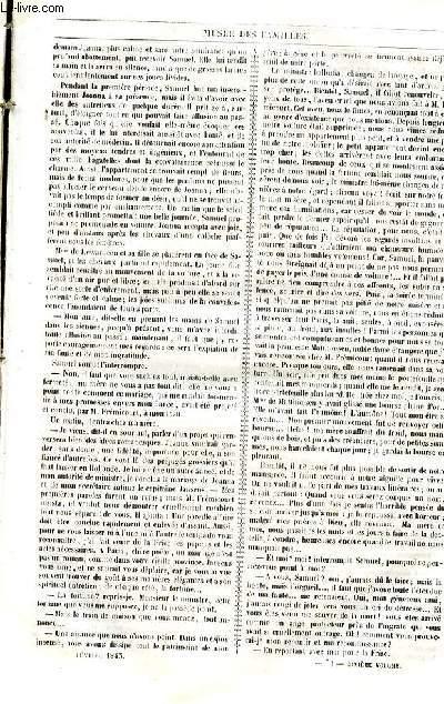Le musée des familles - lecture du soir - livraison n°19 et 20  - Joanna de Lewardeen, seconde partie - La gloire pour une femme par Henry Berthoud, suite et fin.