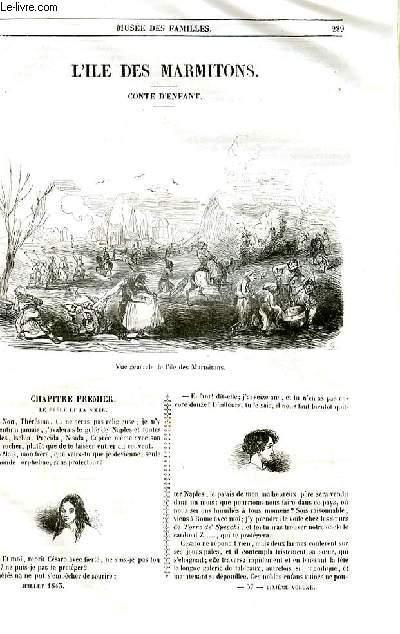 Le musée des familles - lecture du soir - livraison n°37 et 38 - L'ile des marmitons , conte d'enfant  par Emile de Girardin.
