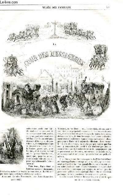 Le musée des familles - lecture du soir - livraison n°41 et 42 - La cour des messageries par  par Paul de Kock.
