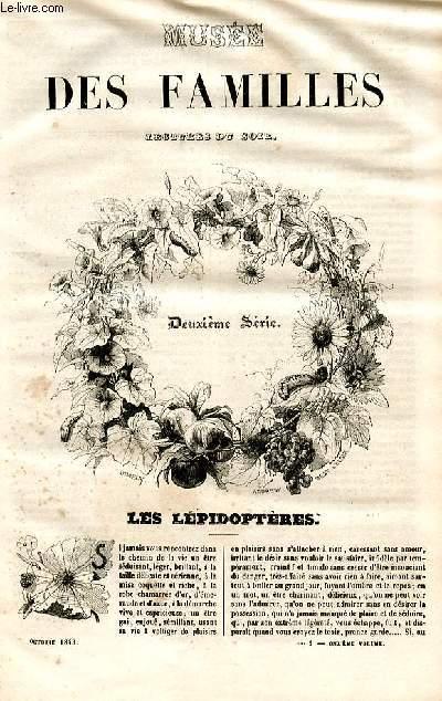 Le musée des familles - lecture du soir - deuxième série - livraison n°01 et 02 - Les lépidoptères par Boitard.