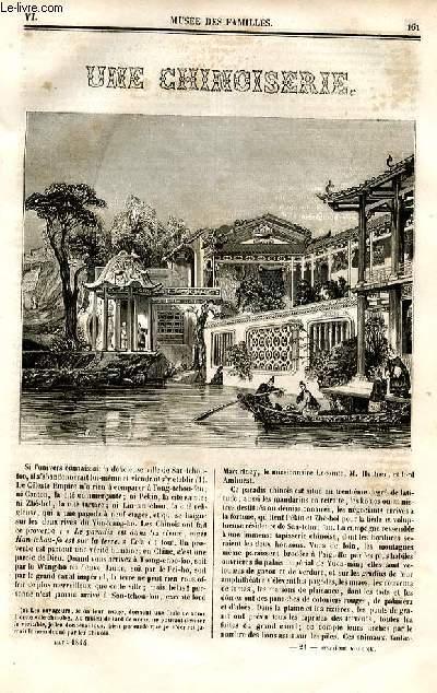 Le musée des familles - lecture du soir - deuxième série - livraison n°21 - Une chinoiserie  par Méry.