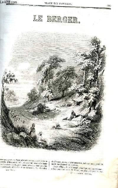 Le musée des familles - lecture du soir - deuxième série - livraison n°29 - Le berger par Théophile Gautier, nouvelle.