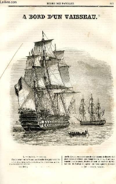 Le musée des familles - lecture du soir - deuxième série - livraison n°30,31 et 32 - A bord d'un vaisseau  par Jal, à suivre.