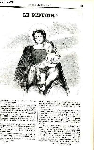 Le musée des familles - lecture du soir - deuxième série - livraison n°41 et 42 - Le pérugin par Alexandre Dumas.