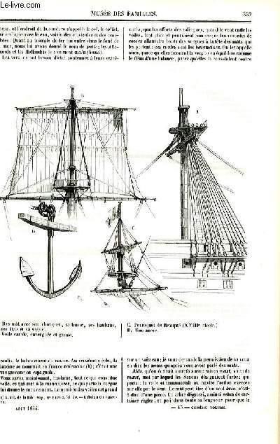Le musée des familles - lecture du soir - deuxième série - livraison n°43 et 44 - A bord d'un vaisseau, suite par Jal.