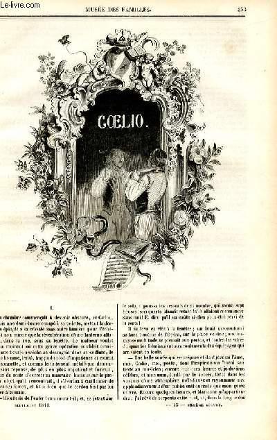 Le musée des familles - lecture du soir - deuxième série - livraison n°45 - Coelio par Henry Blaze, à suivre.