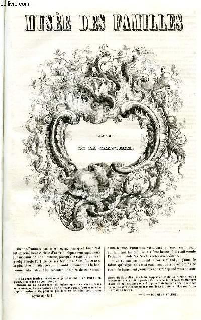 Le musée des familles - lecture du soir - deuxième série - livraison n°01 - Madame de la Chanterie par  par De Balzac.