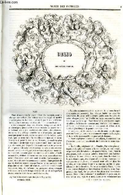 Le musée des familles - lecture du soir - deuxième série - livraison n°02 - Coelio, deuxième partie par Henri Blaze .