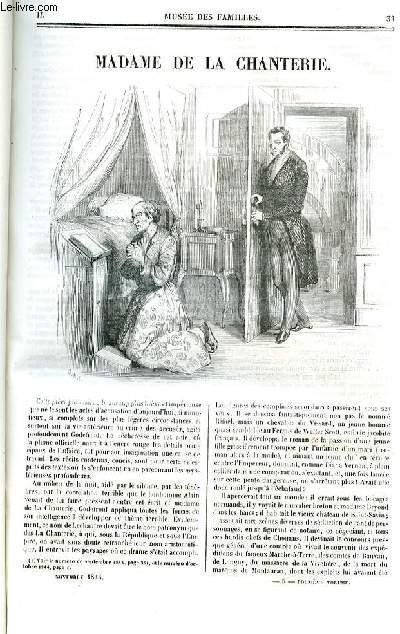 Le musée des familles - lecture du soir - deuxième série - livraison n°05 et 06 - Madame de la Chanterie par  par De Blazac, , nouvelle.