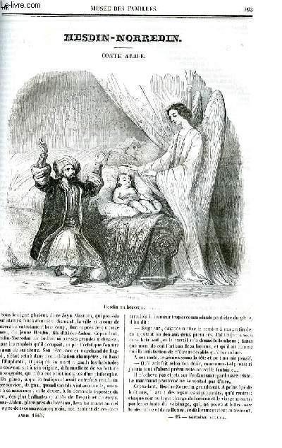 Le musée des familles - lecture du soir - deuxième série - livraison n°25  et 26- Hesdin - Norredin , conte arabe par Wey.