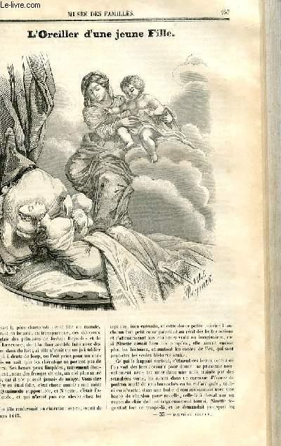 Le musée des familles - lecture du soir - deuxième série - livraison n°33 et 34 - L'oreiller d'une jeune fille par Théophile Gautier.