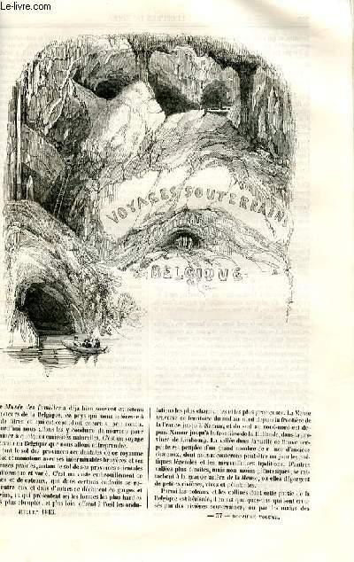 Le musée des familles - lecture du soir - deuxième série - livraison n°37 et 38  - Voyages souterrains en Belgique  par André Van Hasselt.