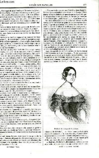 Le musée des familles - lecture du soir - deuxième série - livraison n°48 - La fille de la reine par Pitre Chevalier.